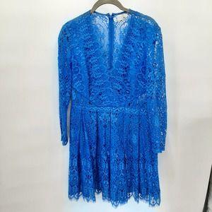 Asos blue lace mini dress in size 12
